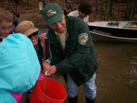 Governor Patrick and Volunteers Restocking Walden Pond with Trout